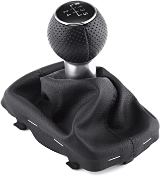 Acouto Universal Black Car 5 Speed Gear Stick Shift Knob Manual