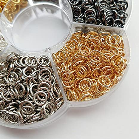 5mm Chenkou Craft 1 Box 6 Colors 3000pcs Open Jump Ring /& Ring Jewelry Keychain Making from 4mm to 10mm with 1 pc Jump Ring Open//Close Tool and 1 pc Clear Box