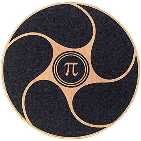 PI-Fitness Balance Board: Wooden Exercise, Fitness, and Physical Therapy Disc with Non-Slip Safety Top to Tone Muscles, Strengthen Core, and - Wooden Balance Board