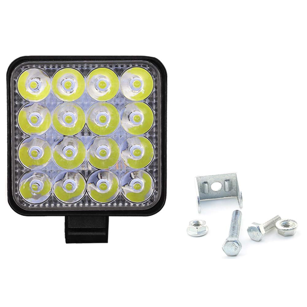 DD-BOMG 48W Square LED Work Light 12V 24V Off Road Spot Light for Car Truck SUV 4WD