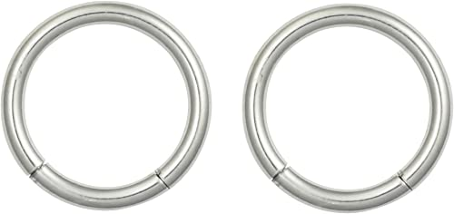 1 Pair 12g 1//2 Inch  Surgical Steel  Captive Bead Ring