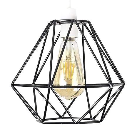 Lámpara de techo de alambre vintage con jaula de Yikege, estilo ...