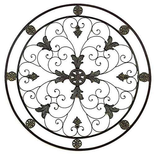 Deco 79 81372 Energy Circle Metal Wall Art Decorative Sculpture