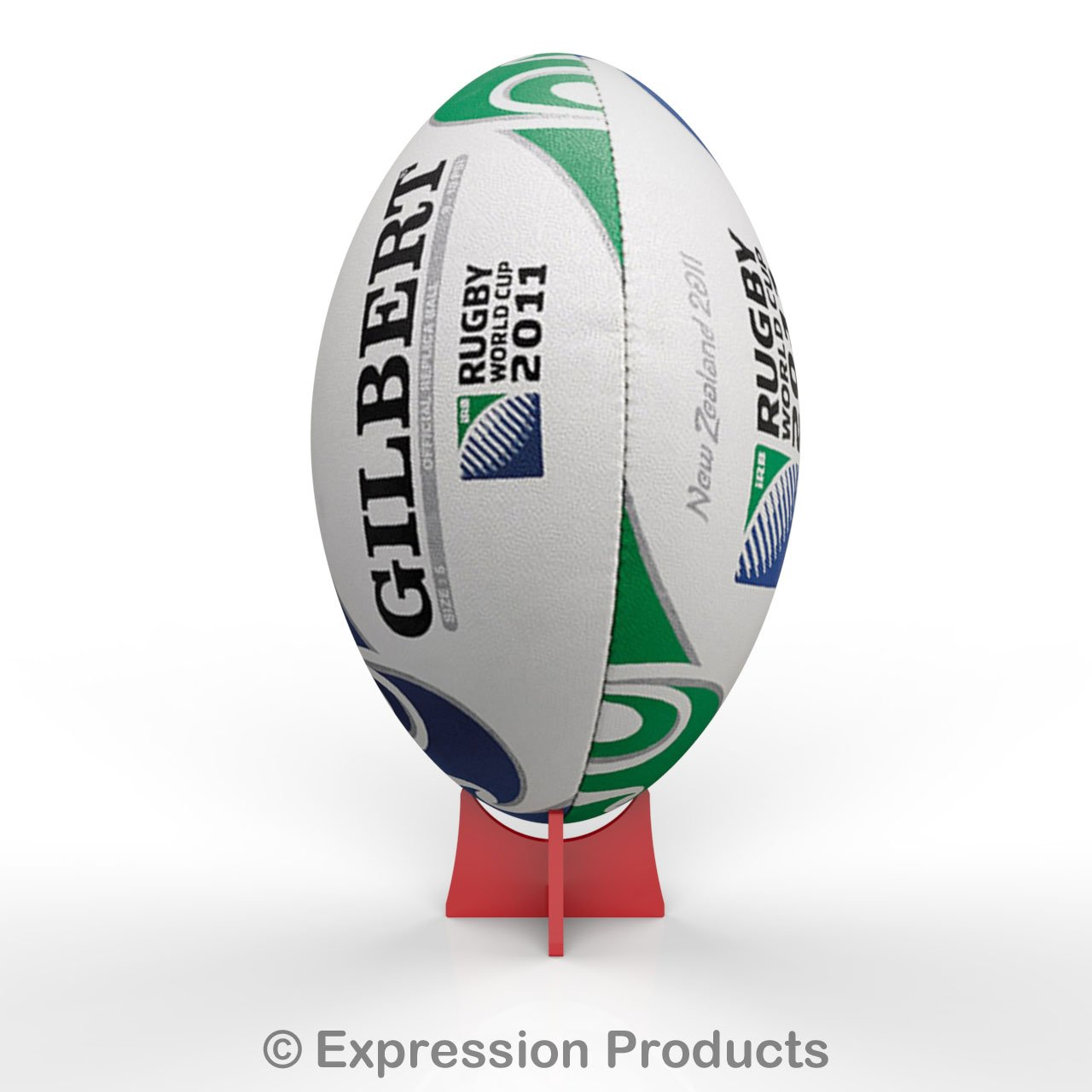 Acrylic Rugby Ball Ball Display Stand Riser Plinth (Red) 6 Colours Available Expression Products