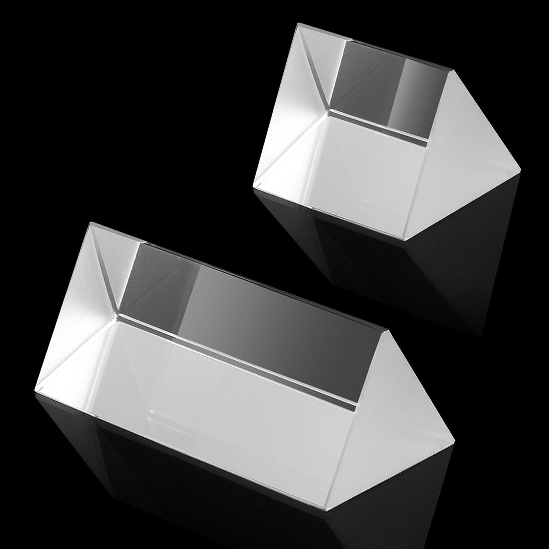 Neewer&Reg; Da Laboratorio Vetro Ottico Prisma Triangolare (1.18/30Mm Lunghezza Laterale Della Base Triangolare), Kit Di 2 Prismi - 2 (50Mm), 4 (100Mm) In Lunghezza 4 (100Mm) In Lunghezza