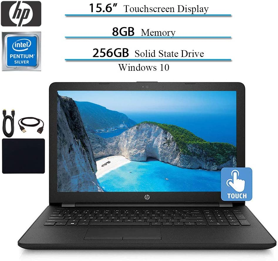 HP 15.6 2019 Newest Premium Pavilion Touchscreen Laptop Notebook Computer, Intel Pentium 4-Core N5000, up to 2.7 GHz, 8GB RAM, 256GB SSD, Win 10