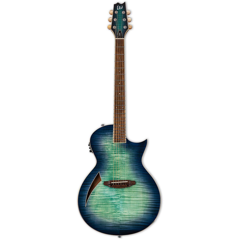ESP LTD TL-6 Acoustic Electric Thinline Guitar, Aqua Marine Burst by ESP Guitars