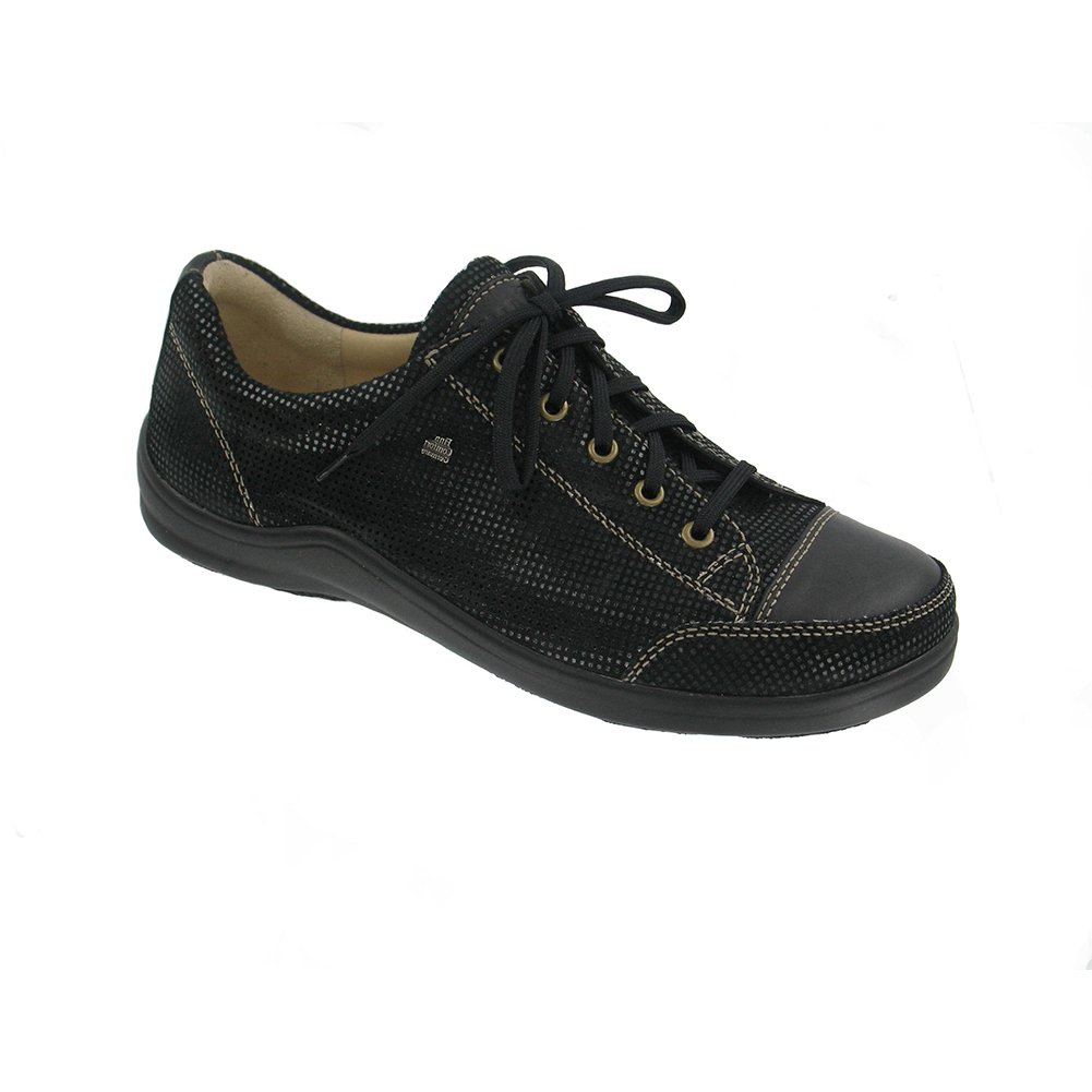 Finn Comfort Soft Soho Womens Fashion Sneakers, Black Points/Nappa, Size - 40