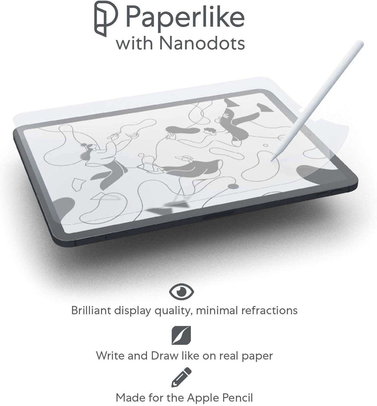 11-inch Two-Pack iPad Screen Protector for iPad PRO Draw And Write with Your Apple Pencil Like on Paper 2018 PaperLike with Nanodots