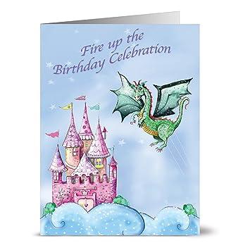 Amazon.com: 24 Nota Tarjetas de cumpleaños tarjetas – Dragón ...