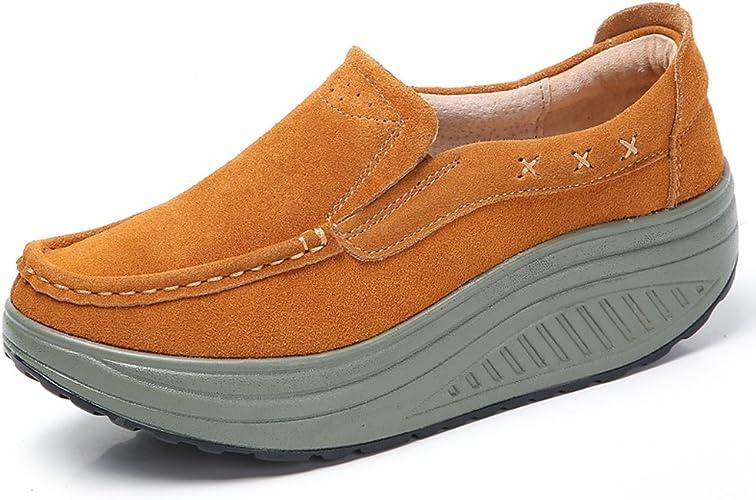 Womens Rocker Sole Trainer Shoes Slip
