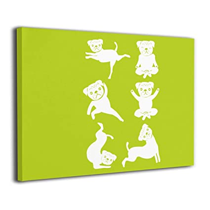 Amazon.com: Jemeira Atwood Dog Yoga Poses Wall Art Painting ...