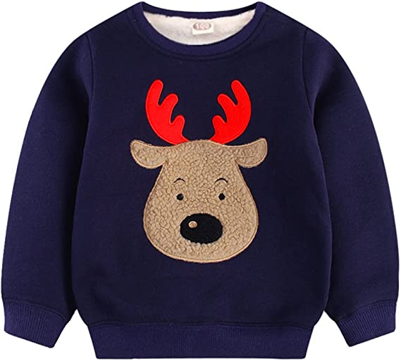 Christmas Kids Boy Long Sleeve Toddler t-Shirt Tops Clothes Jumper Sweatshirt