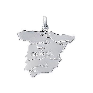 Colgante tarjeta de España en plata 925 Neuf Ref.1 a867 a200 ...