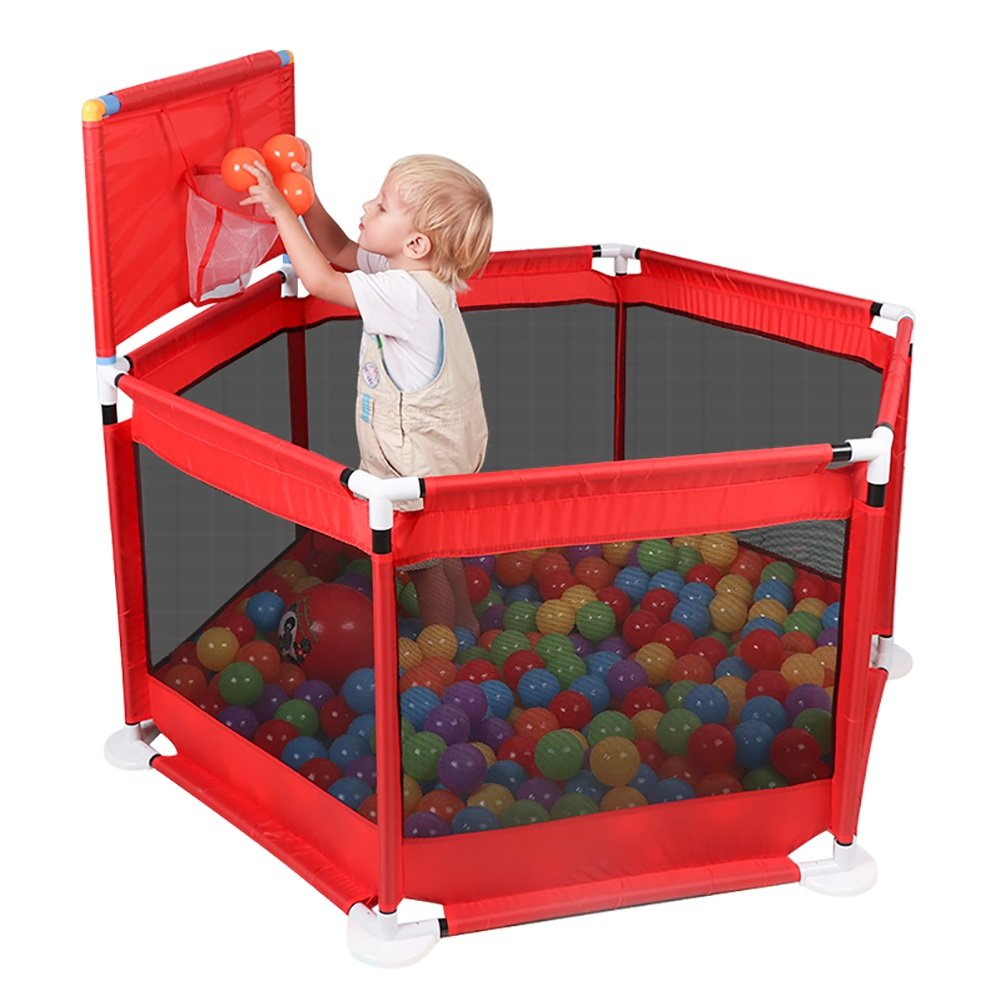 【受注生産品】 WSSF- 幼児の安全フェンス子供のテントは、バスケットを再生Playpenは、高さ66cmのガードレール屋内のベビーオーシャンボールプールのおもちゃ遊び場赤 WSSF- B07D8SYNBH, 株式会社花島:86305ff7 --- a0267596.xsph.ru
