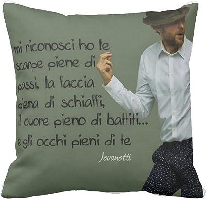 Sconosciuto Cuscino Pillow Idea Regalo Frase Canzone Jovanotti