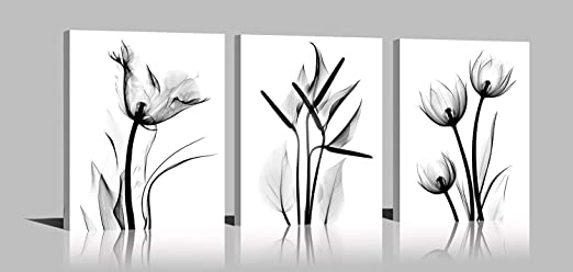 Black And White Wall Art Large Poster /& Canvas Pictures Cute Butterfly Flower