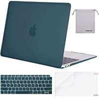 MOSISO MacBook Air 13 Inch Case 2019 2018 Release A1932 with Retina Display, Plastic Hard Shell Case&Keyboard Cover&Screen Protector&Storage Bag Only Compatible with MacBook Air 13,Deep Teal