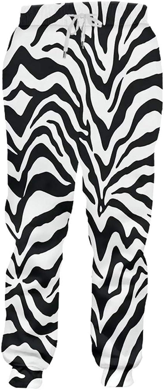 Bnssol Man Bodybuilding Pants 3d Printed Black White Leopard Print Sweatpants Trousers Amazon Ca Clothing Accessories