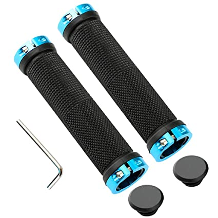 Bicycle Handlebars Grips Lock On Aluminum Grips