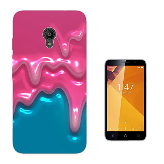 003801 - Dripping Pink Paint Design Vodafone Smart Turbo 7 Fashion Trend CASE Gel Rubber Silicone