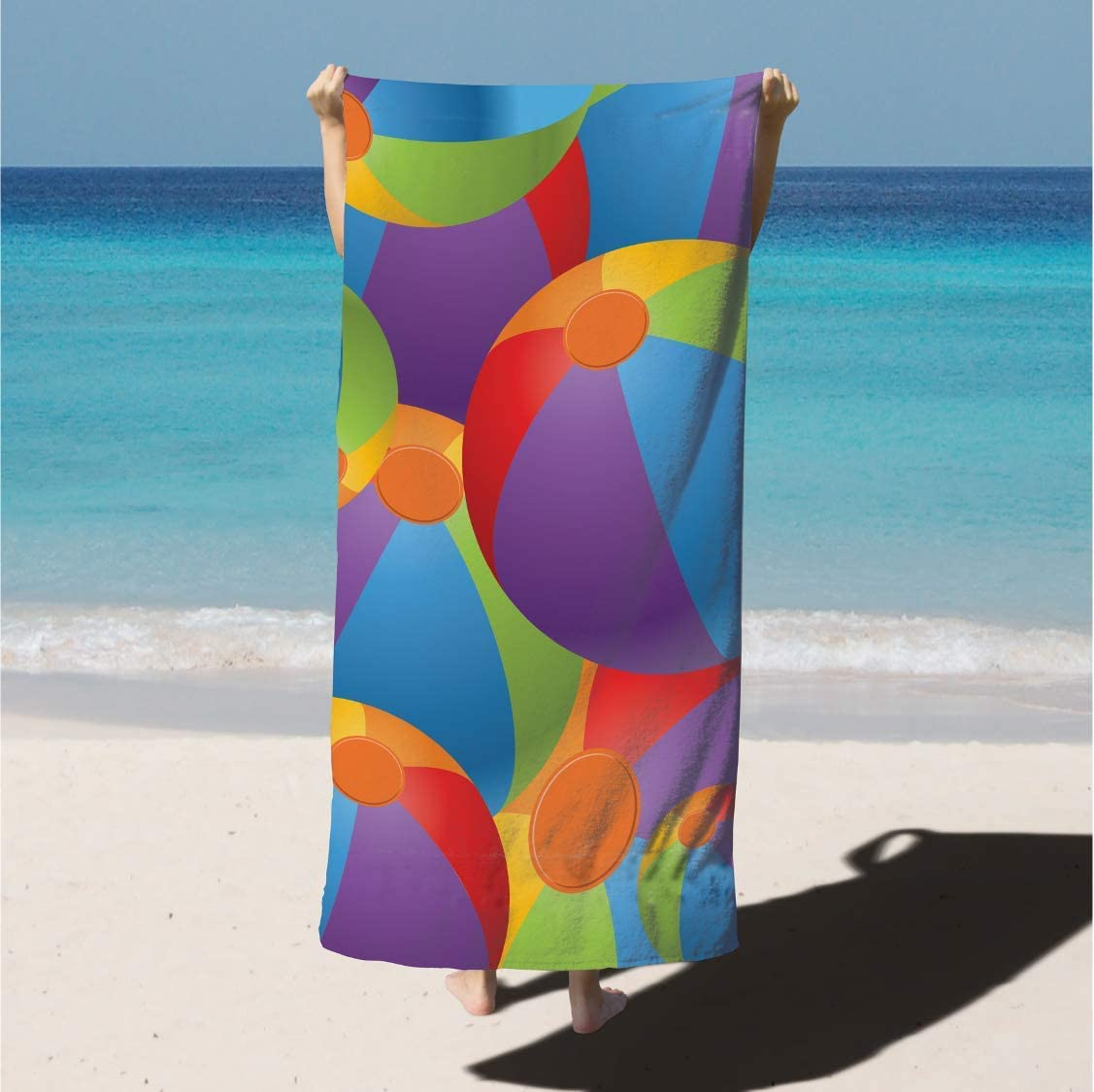 Arkwright LLC Velour Printed Beach Towel, 100% Cotton Super Absorbent Quick Drying Pool Towel (30x60 in., Flip-Flops)