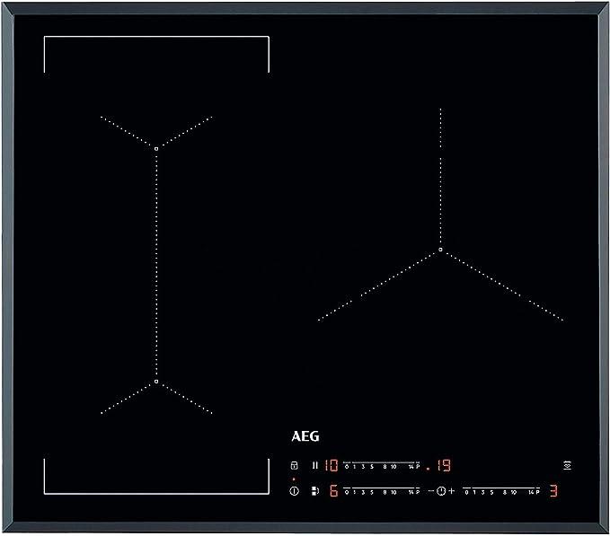 AEG IKE63441FB Placa inducción flexible, Biselada, Extraplana 3 zonas, Función Pausa, Calentamiento rápido, Sistema de conexión automática, Función Puente bizona,Negro, 60 cm: 378.73: Amazon.es: Hogar