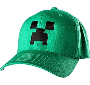 61016b68188 Official Minecraft Baseball Summer Cap Age 5-8  Amazon.co.uk  Clothing