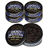 Smokey Mountain Herbal Snuff - Arctic Mint - 5 Cans - Nicotine-Free and Tobacco-Free - Herbal Snuff - Great Tasting & Refreshing Chewing Tobacco Alternative