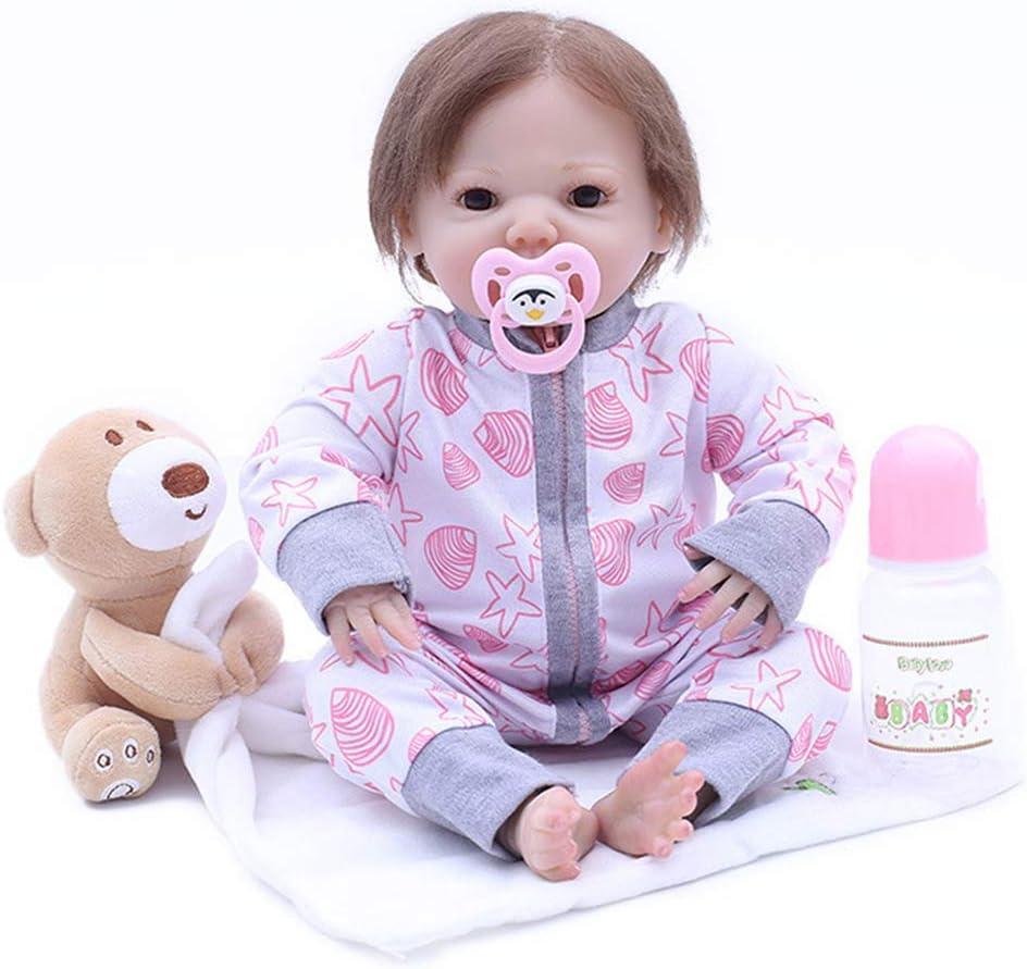 ZHDQ 43CM Bebés Reborns Muñeca Realista Newborns Muñeco Hiperrealistas Bebé Reborn Reborns Ojos Abiertos Niño Regalo de Cumpleaños Magnético Juguetes