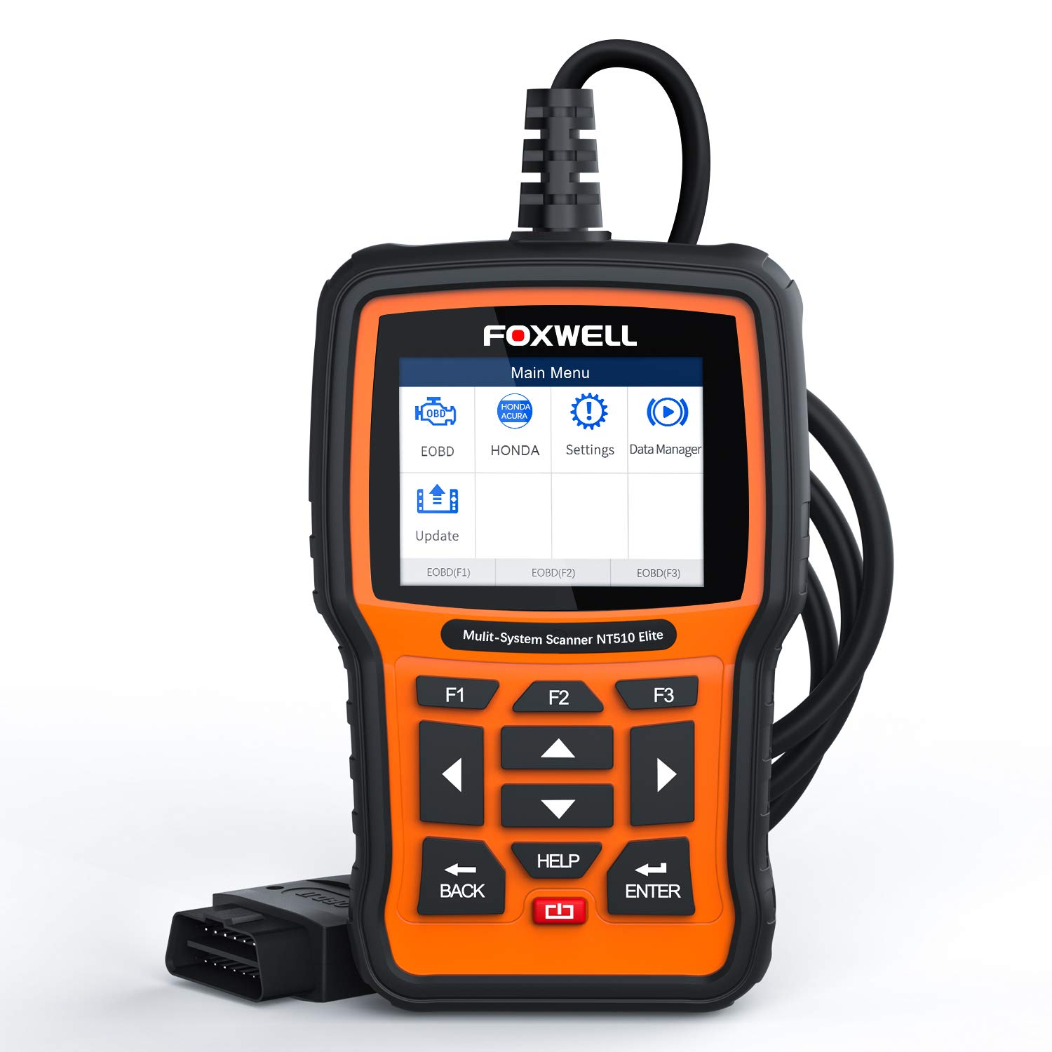 FOXWELL NT510 Elite OBD2 Bi-Directional Scan Tool for Honda Acura All  System Diagnostics ABS SRS Transmission Battery Registeration Auto Bleed  TPS SAS