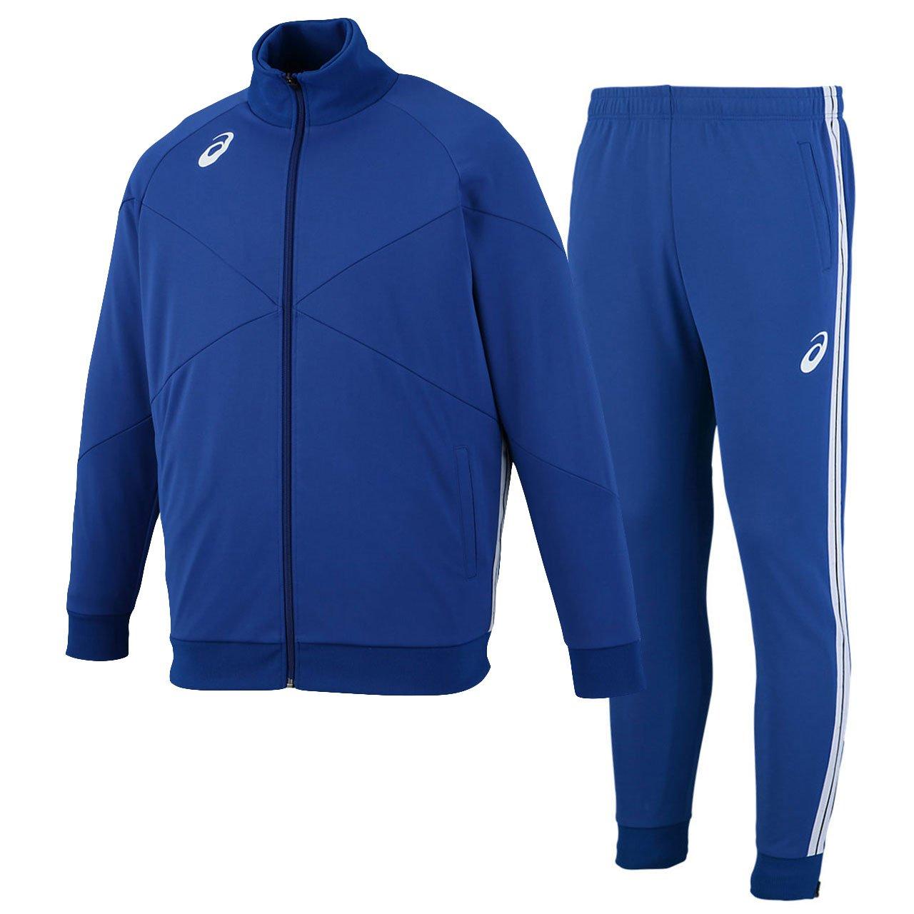 アシックス(asics) トレーニングジャケット&トレーニングパンツ 上下セット(ブルー/ブルー) XST184-45-XST284-45 B079TJ692V XS|ブルー/ブルー ブルー/ブルー XS