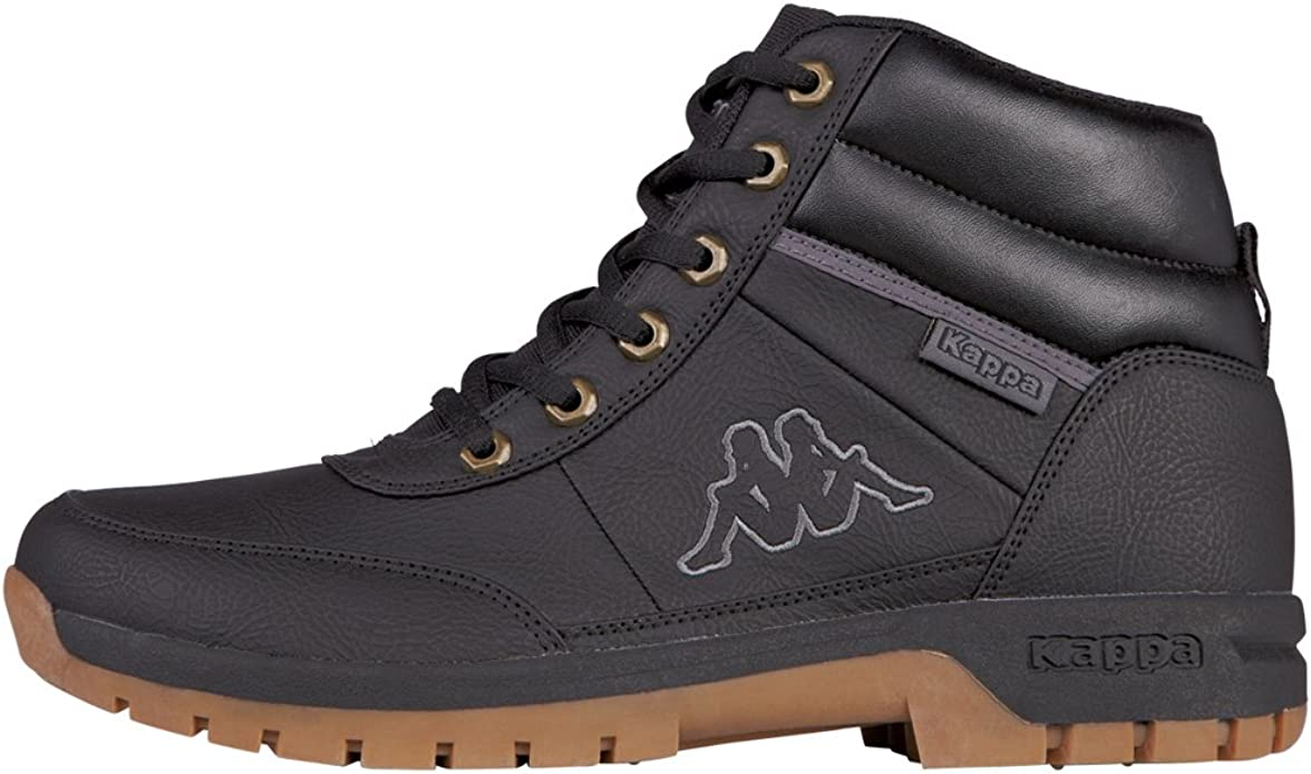 Kappa Bright Mid Light Sneakers Damen Herren Unisex Schwarz