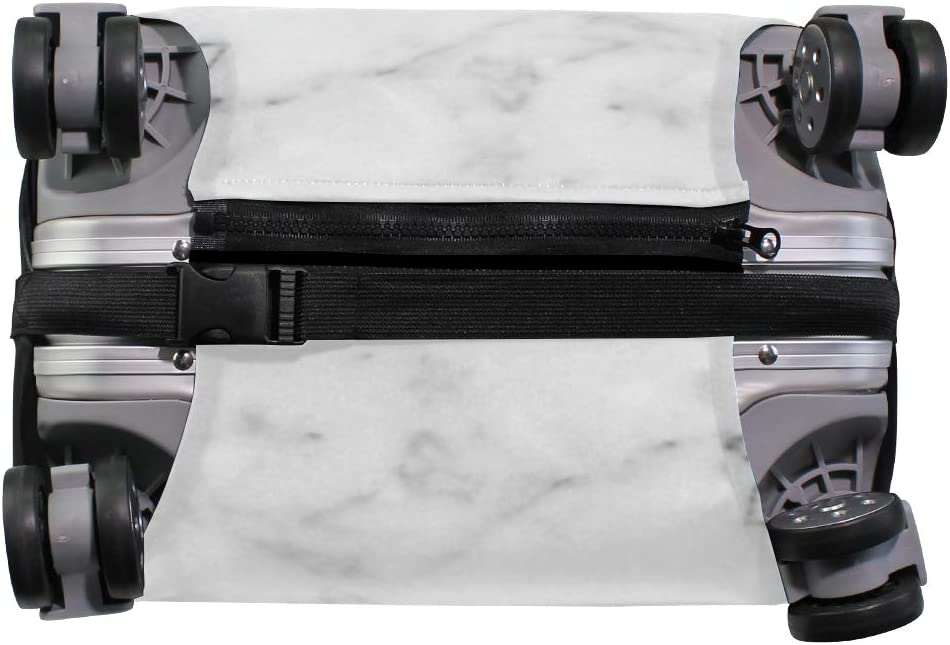 White Marble 2 Travel Suitcase Protector Zipper Suitcase Cover Elastic