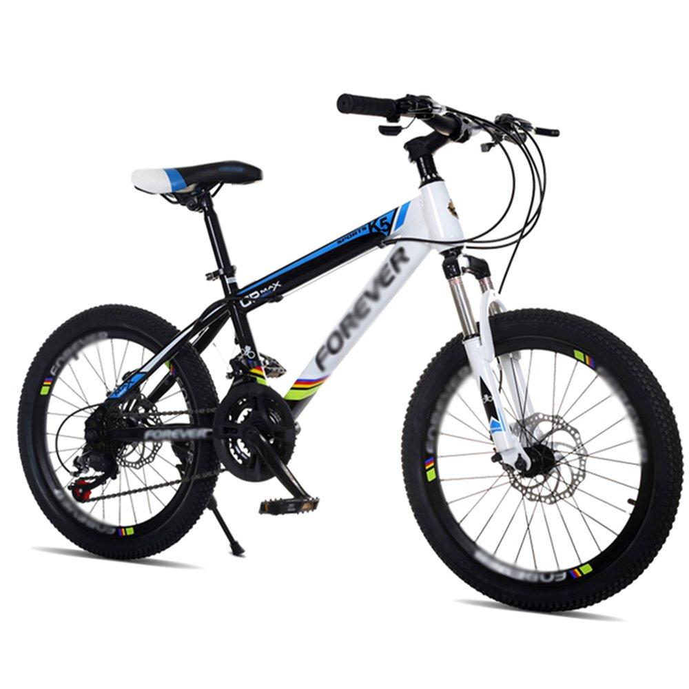 ZHIRONG 子供用自転車 青赤緑 20インチ アウトドアアウト スピードマウンテンバイクを変更する ( 色 : 青 ) B07CRL31CC青