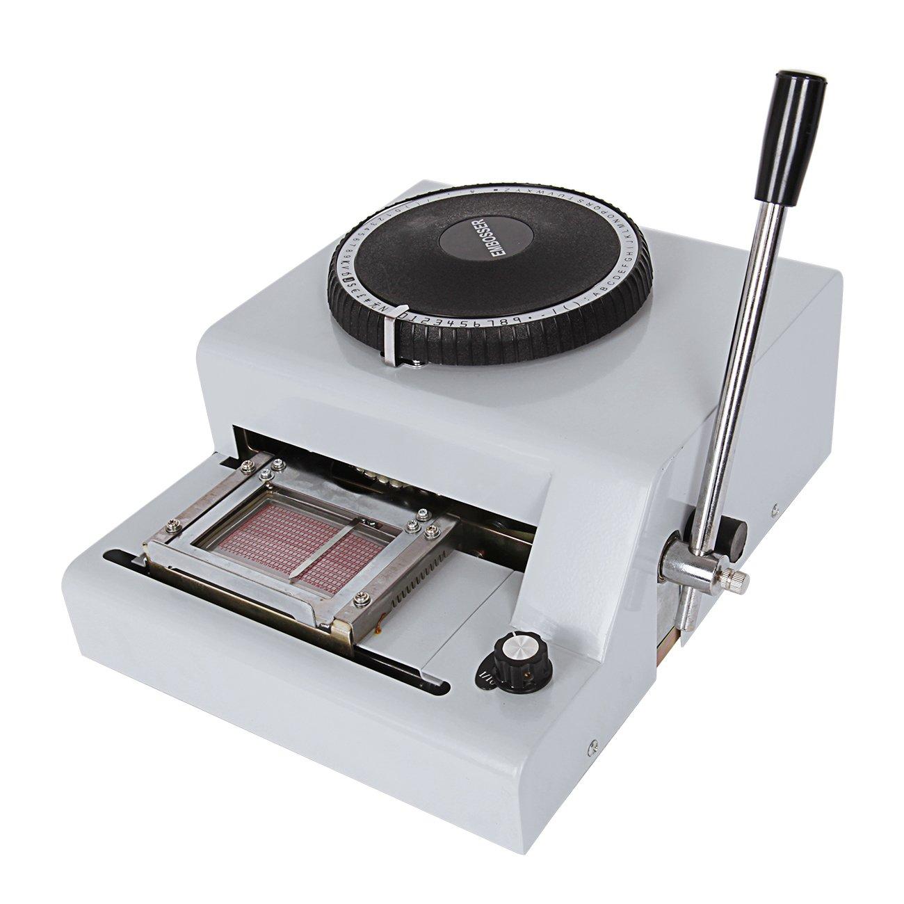 Iglobalbuy 72-character Manuel Card Embosser Credit ID VIP PVC Card Embossing Machine
