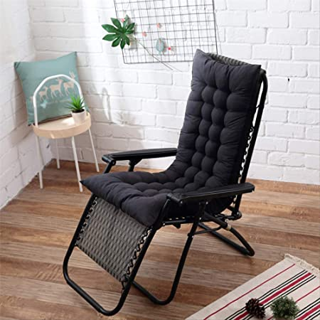 AINIYUE Cojín para Tumbona, cojín reclinable para Muebles de jardín para Patio Cojín de Repuesto con Correas elásticas, para/Interior/Exterior Los 48X125cm Negro: Amazon.es: Hogar