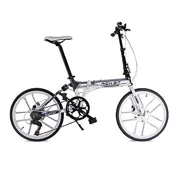 Lixada Bicicleta plegable de 20 pulgadas Bike bici de Deportiva portátil Marco de la suspensión de