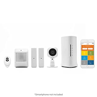 Home8 Video-Verified Security System - Wireless Home Security Alarm System with HD Camera, Alarm Sensors, Indoor Siren, and Free Basic Alarm Service, featuring Amazon Alexa Integration