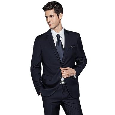 Gwell Herren Anzuge Vintage Twill Einreihiges Sakko Mit 2 Knopfen