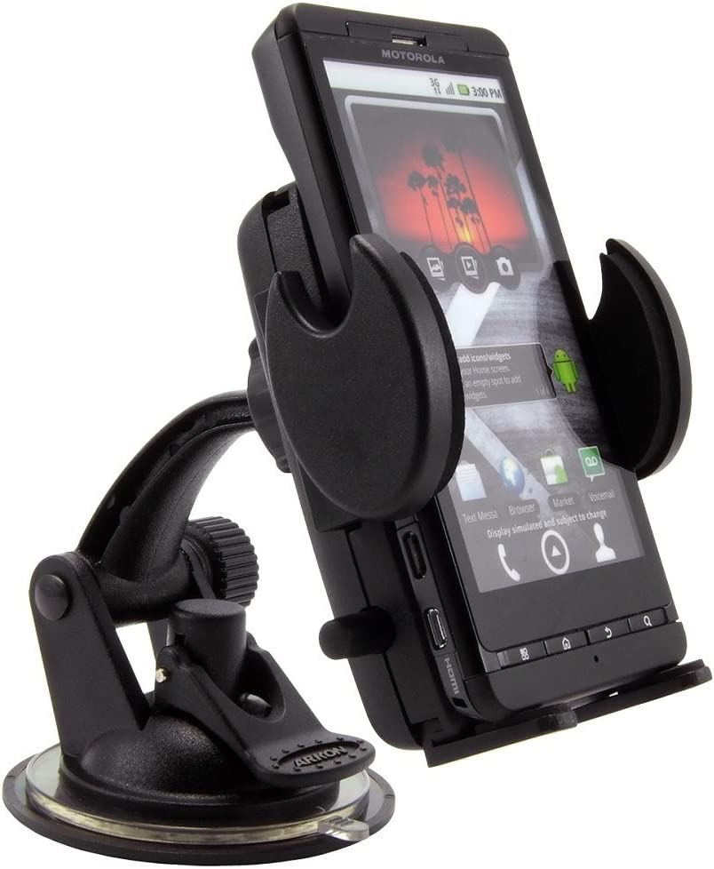 Black Mount Bulk Packaging Arkon SM410 Universal Windshield with Dashboard and Vent Mount for Smartphones and PDAs