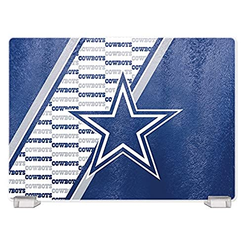 Superieur Duck House NFL Dallas Cowboys Tempered Glass Cutting Board With Display  Stand