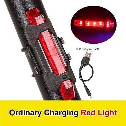 Mountainbike Rücklicht USB Wiederaufladbare LED Fahrrad Rücklicht Warnleuchte
