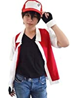 HAIK Pokemon Cosplay Costume Hoodie Cosplay Jacket Gloves Hat Sets for Trainer