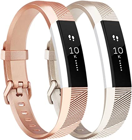 677C Classic Replacement Leather Wrist Strap Band Buckle For Fitbit Alta Alta HR