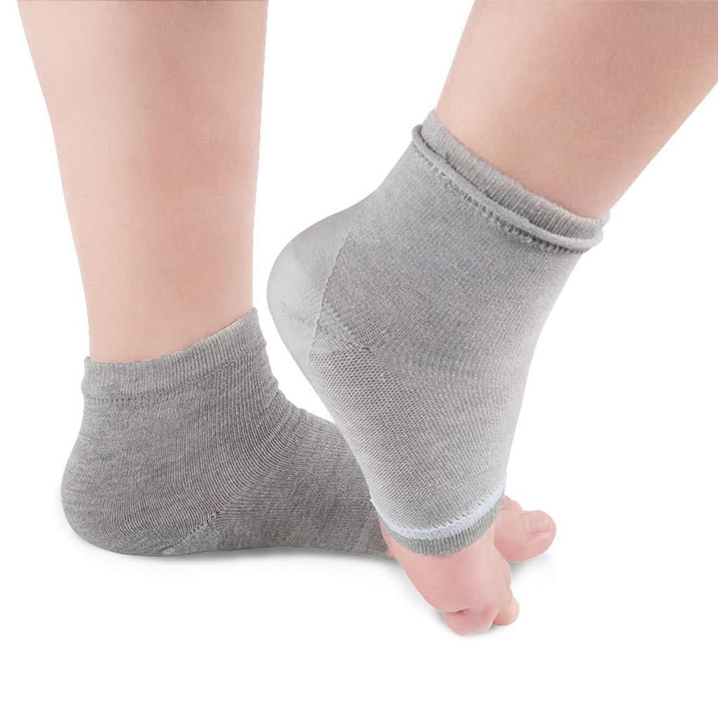 Dainzuy Heel Gel Lined Sleeve Ankle Socks Plantar Fasciitis Heal Dry Crack Skin Moisturizing Socks Four-Color Socks