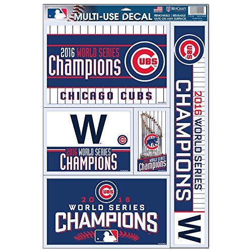 Officially Licensed MLB Chicago Cubs 2016 World Series Champion Window Decal (Shoppers Cub)