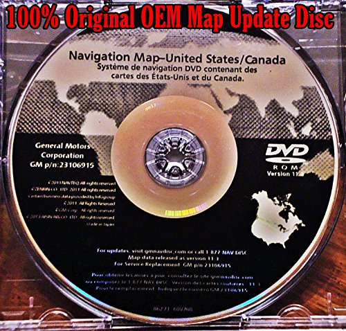2007 2008 2009 2010 2011 CADILLAC ESCALADE ESV EXT ACADIA ENCLAVE TRAVERSE NAVIGATION MAP CD DVD 11.3 UPDATE OEM