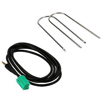 Cable auxiliar de audio para coche, Entrada de 3,5 mm para MP3, iPod, iPhone, ...
