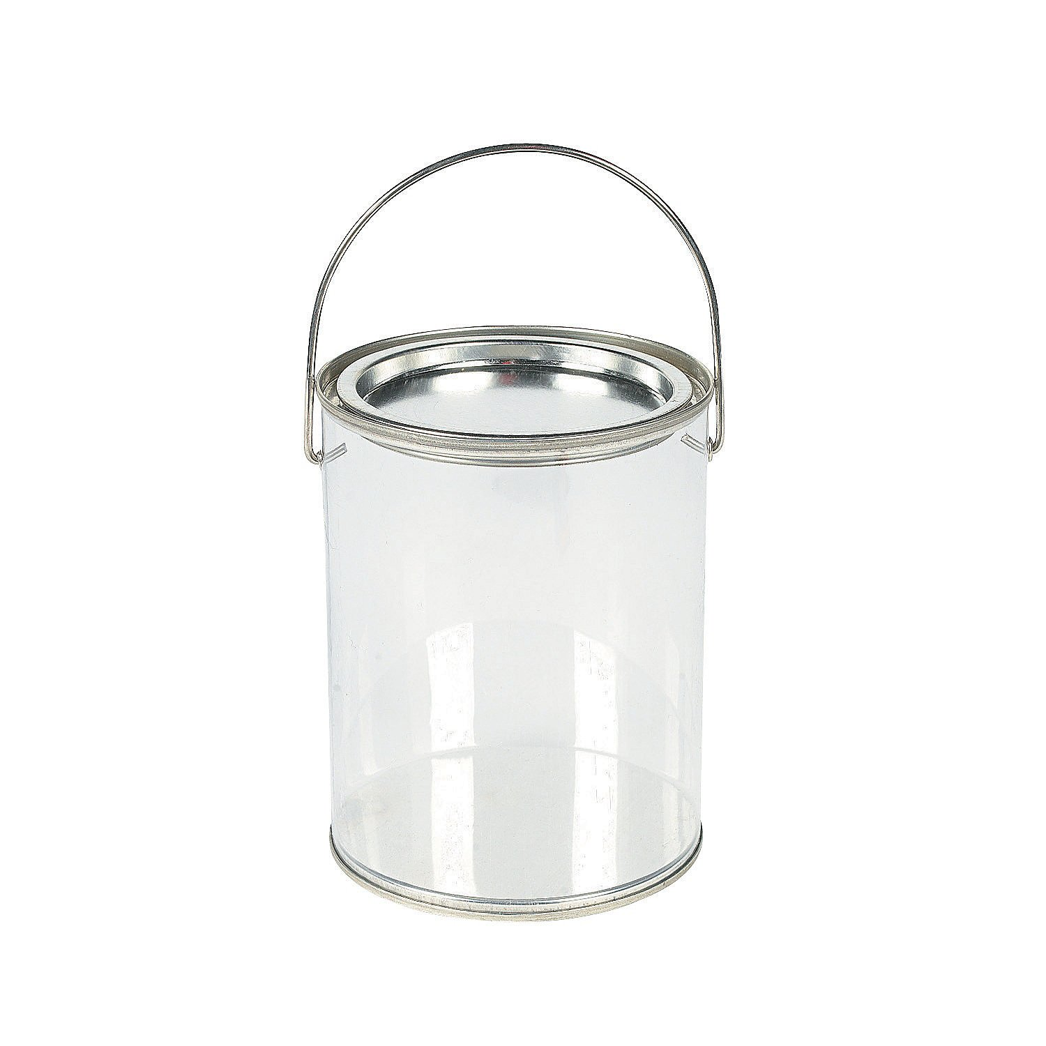 Plastic Clear Paint Can Container Craft Decorating Artist Buckets - Great for Party or Baby Shower Decorations by Fun Express